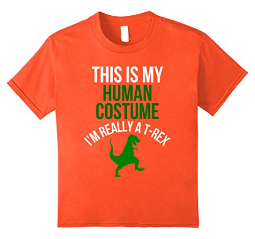 Really Scary Halloween Costumes For Girls (Kids Human Costume I'm Really A T-Rex Funny Halloween T-shirt 12 Orange)