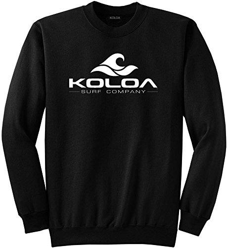 Koloa Surf Classic Wave Logo Crewneck Sweatshirt - M-Black/w
