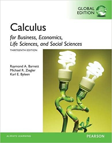 Calculus For Business, Economics, Life Sciences And Social Sciences, Global Edition by Amazon