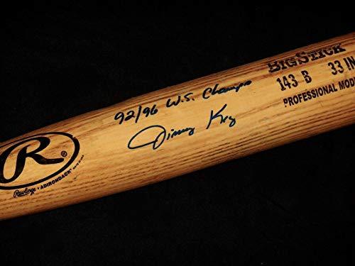 Jimmy Key Autographed Bat - BLUE JAYS) - Spring Training Used ! - Autographed MLB - Training Blue Mlb