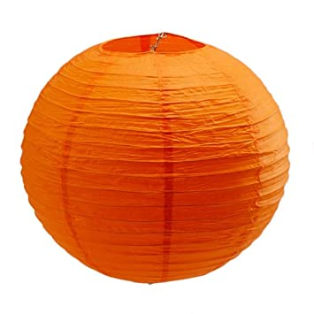Amazon 14 orange round chinese paper lantern lamp wedding 14quot orange round chinese paper lantern lamp wedding party decoration junglespirit Images