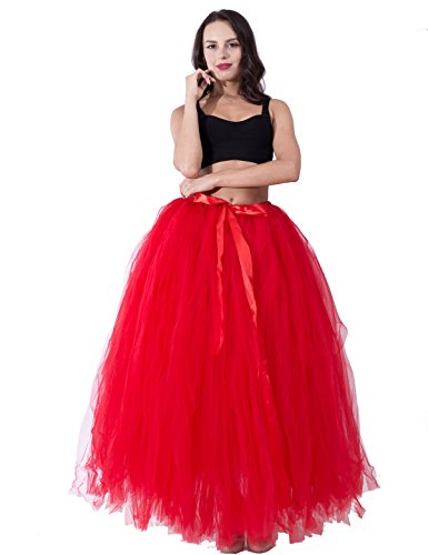 Handmade Puffy Tutu Tulle Skirt 100cm Maxi Long Women Adult Photo Prop Shot