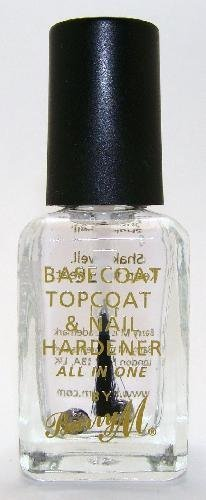 Barry M Nail Paint - Clear 3in1 Basecoat, Topcoat & Nail Hardener (54) by Barry M