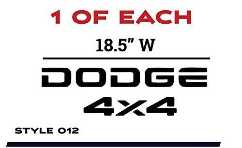 Dodge 4 X 4 Decals - 6
