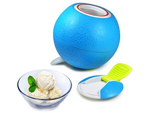 Yay Labs SoftShell Ice Cream Ball Blue, Pint Size