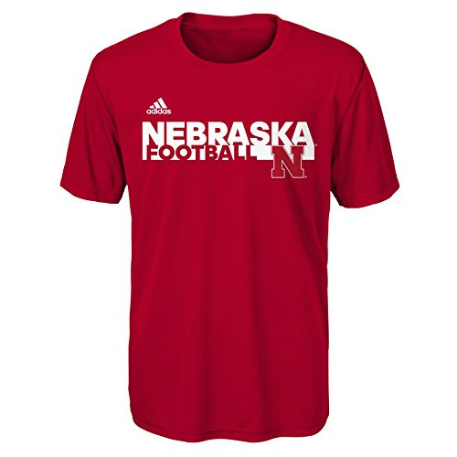 Sideline T-shirt - Outerstuff NCAA Nevada Wolfpack Sideline Grind Football Performance Short Sleeve Tee, Dark Red, Large (14-16)