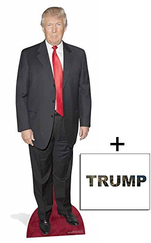 Fan Pack - Donald Trump Lifesize Cardboard Cutout 2D Standup / Cutout Plus 20x25cm Photo by BundleZ-4-FanZ Fan Packs by Starstills