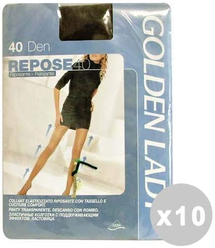 Golden Lady Repose Set 10 Repose Collant 40 den Marrone Castoro Taglia III 36g