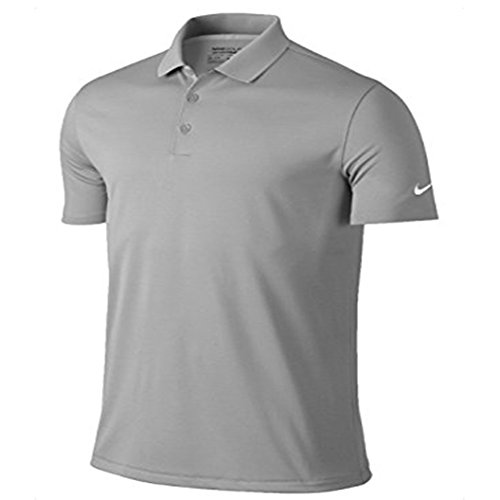 Nike Golf Mens Victory Dri-Fit Solid Polo Grey 818050 093 (l) (Nike Collared Shirts)