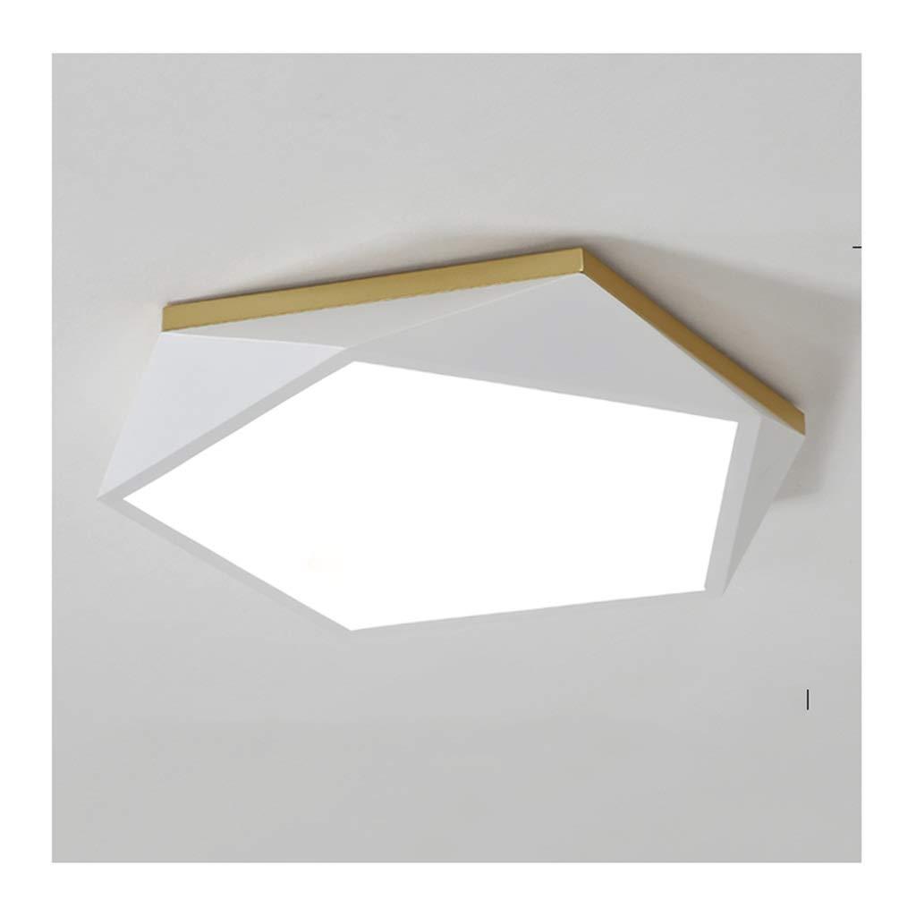 $天井灯 シーリングライト - モダンクリエイティブシーリングランプ、LED調光対応アイアンアクリル、リビングルームのインテリア寝室研究クロークルームキッチン照明 [エネルギークラスA +] (Color : Warm light, Size : 42cm) 42cm Warm light B07STN6QP5