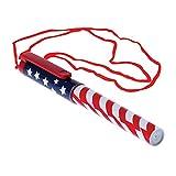 Lot Of 12 Patriotic American Flag Design Pen Necklaces