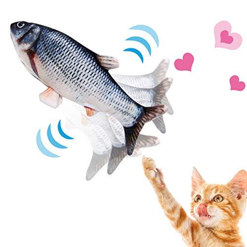 NINECY Katzenspielzeug Fisch Elektrisch, Katzen Spielzeug Zappelnder Fisch mit Katzenminze, Interaktive Spielzeug USB…