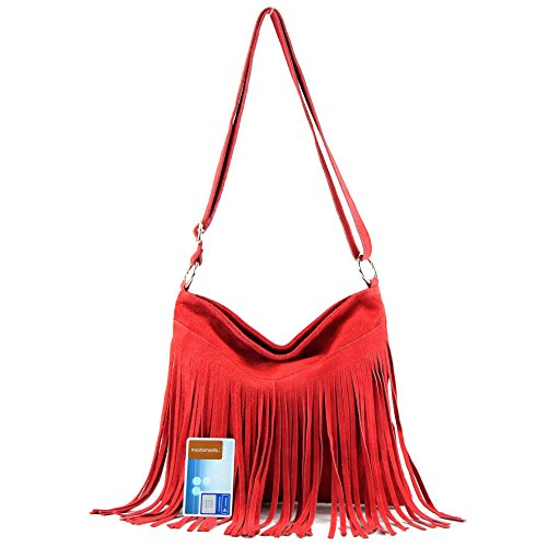 Strawberry real bag handbag shoulder Red Italian leather T145 bag Women's suede bag shopper T02 Y7gqA