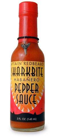 Captain Red Beards Sharkbite Habanero Pepper Hot Sauce, 5 fl oz (Captain Redbeards Hot Sauce)