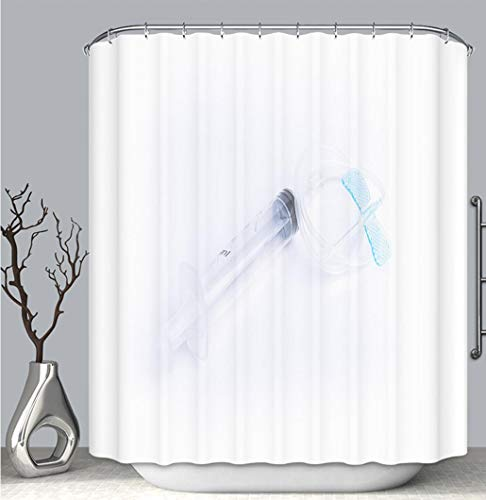 BEICICI Color Shower Curtain Liner Anti-Mildew Antibacterial, Blue Butterfly Catheter with Syringe Multi-Color,Custom Shower Curtain Bathtub Bathroom Accessories.