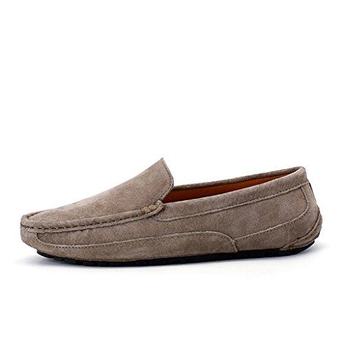 Eagsouni® Mocassins Hommes daim Penny Loafers Casual Bateau Chaussures de Ville Flats #3Kaki