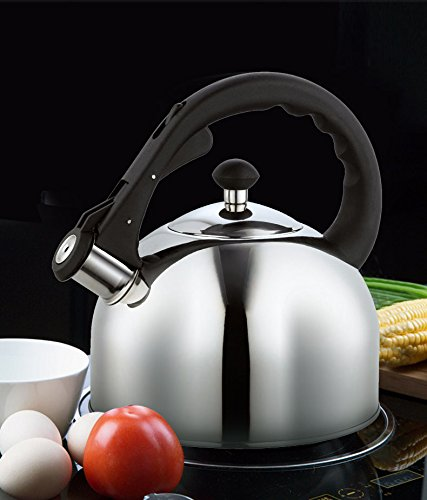 Homeinart Whistling Tea Kettle Stainless Tea Kettles Stovetop 2.6 QT by Homeinart (Image #2)