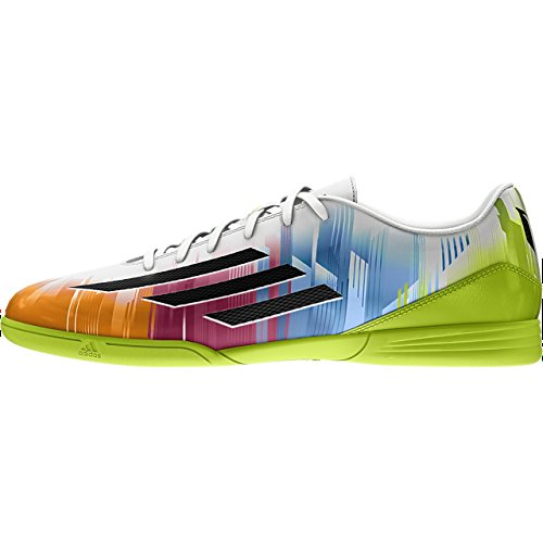 adidas F5 IN Messi White f32741 Weiß (Running White/Black/Solar Slime)