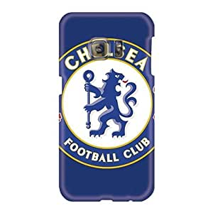 Scratch Resistant Hard Phone Case For Samsung Galaxy S6 (DyQ17025jPsV) Customized Nice Chelsea Fc Image