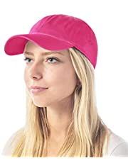 The Hat Depot Unisex Kids & Adult Blank Washed Low Profile Cotton Dad Hat Baseball Cap