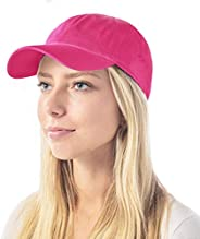 The Hat Depot Unisex Kids & Adult Blank Washed Low Profile Cotton Dad Hat Baseball