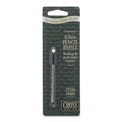 3 PACKAGES TOTAL: 1 Package Contains: Cross - Pencil Refill,1 Cassette W/0.5 mm, CRO 8405