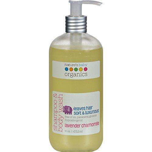 Nature's Baby Organics Shampoo and Body Wash Lavender Chamomile -- 16 fl oz