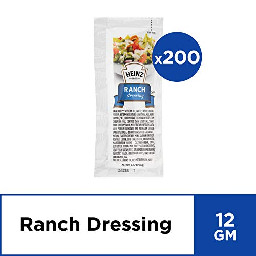 Heinz Ranch Dressing (200 Count) (Best Ranch Dressing In The World)