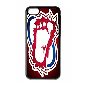 NHL M-13 Sports Colorado Avalanche Black Print Hard Shell Case for iPhone 5C