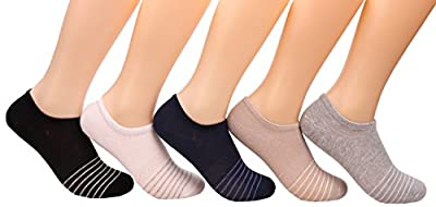 Womens 5 Pack Cotton Comfort Low Cut Cushioned Athletic Short Socks,Size 5-9 C56
