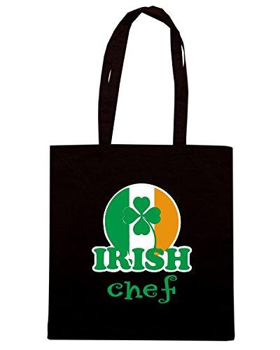 T-Shirtshock - Bolsa para la compra TIR0088 irish chef st patricks dark tshirt Negro