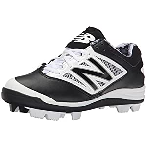 New Balance J4040V3 Youth Baseball Shoe (Little Kid/Big Kid), Black/White, 2 W US Little Kid