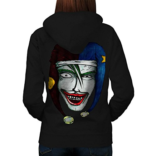 Smiling Scary Clown Joker Laugh Women NEW XXL Hoodie Back | Wellcoda (Scary Smiling Clown)