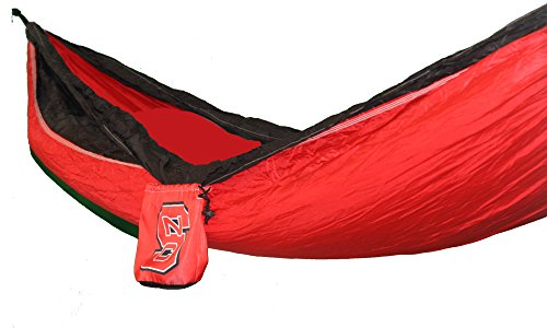 NC State Officially Licensed Nylon Double Hammock (Pillow Floor Carolina)