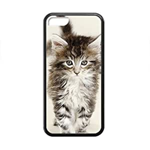 Black White Cute Cat Kitty Phone Case for Iphone 5c