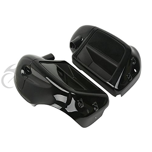 TCMT Black Glove Box Lower Vented Leg Fairings For Harley Touring Electra Glide Road King 2014 2015 2016 2017 2018 by TCMT (Image #4)