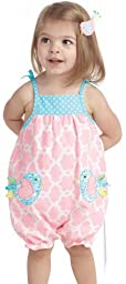 Mud Pie Baby-Girls Newborn Little Chick Bubble, Pink, 9-12 Months