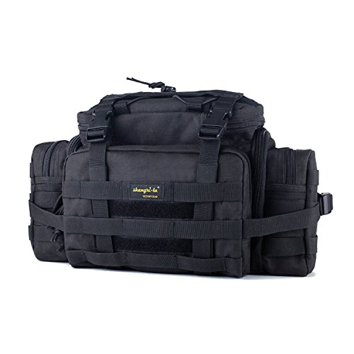 Assault Gear Sling Pack Range Bag with Shoulder Strap - Black (Large) ()
