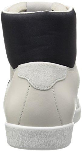 Armani Jeans Mens Klassiska Aj Logo Hög Topp Mode Sneaker Vit