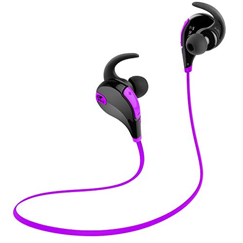 Wireless Bluetooth Headset For Cell Phones (Purple) - 9