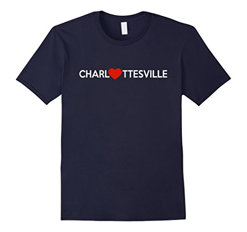 Mens CHARLOTTESVILLE Heart T-Shirt | We Love Charlottesville Medium - Charlottesville Men's Clothing