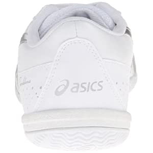 ASICS Women's Tumblina Cheer Shoe,White/Silver,11.5 M US