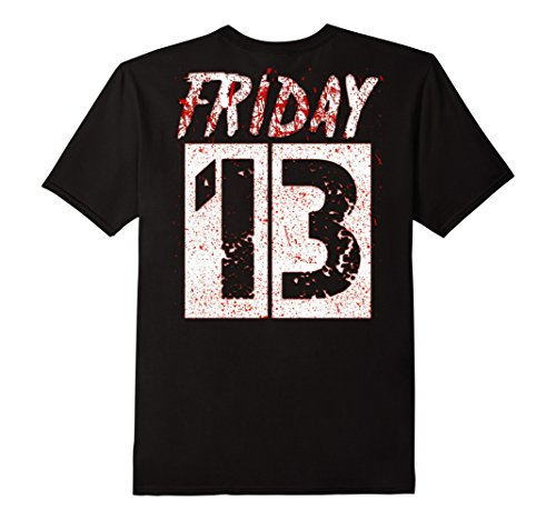 Mens Friday 13th Mark Your Calendars, Halloween Shirt Back Design XL Black (Halloween On Friday The 13th)