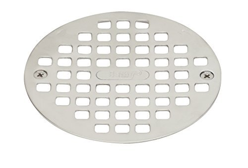 Oatey 42005 4-1/4-in Round Snap-Tite Strainer, Stainless Steel by Oatey
