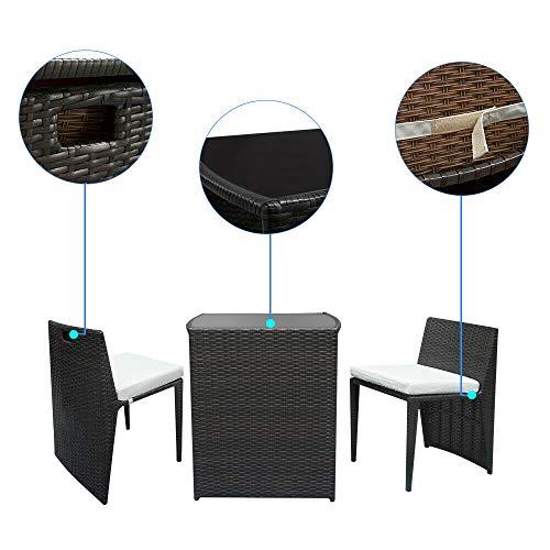 (AK Energy Black Patio Wicker Furniture Outdoor 4pc Rattan Sofa Set Garden Conversation Set Lawn Glass Top Table)
