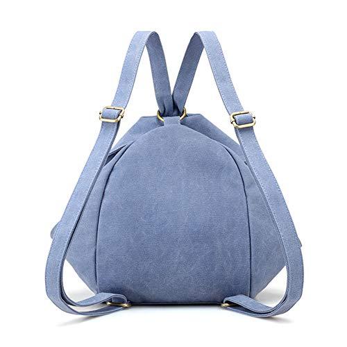 Azul De Liviano Y Escuela Estilo Cielo viajar Lona Bolsa Los Blanco Elegante Días todos Pequeño bolsos Mujer mochila Hombro F8UwP5q
