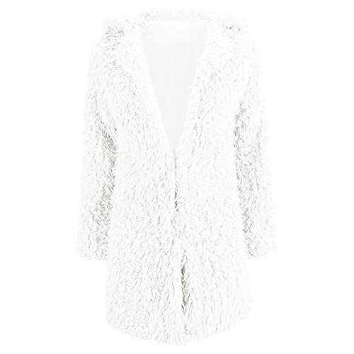 Manica Di Inverno ❤ Bianco Pelliccia Corto Giacca Pullover Lunga Lana Outwear Donna Autunno Sintetica Moda Invernale Cappotto Casuale Parka Cardigan Vicgrey 7Yq4q
