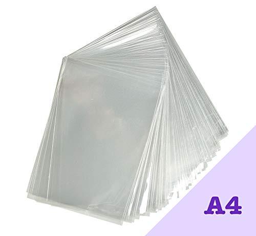 Bolsas de celofán A4 de Acryls, Paquete de 100 Unidades, Transparentes y de Buen Grosor, Ajuste Obras de Arte y Fotos A4, Hace Que tu Trabajo se ...