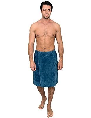 TowelSelections Men's Wrap, Shower & Bath, Water Absorbent Cotton Lined Fleece