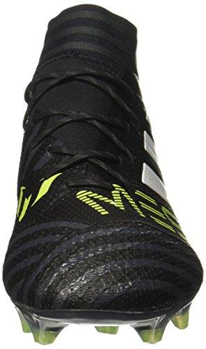 adidas Nemeziz Messi 17.1 FG, Scarpe da Calcio Uomo Nero / giallo neon